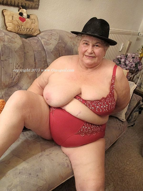 Busty 70 years old granny tastes his cock 10